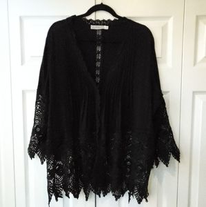 Solitaire 2X Black Lace Boho Top
